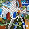 """Amusement Park"" (acrylic on canvas) by Toni Silber-Delerive"