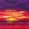 """Caribbean Sunset"" (acrylic) by Shelley Chiodini"
