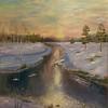 """Painted by winter"" (oil) by Elena Rachkova"