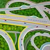 """City Viaduct Bridge Roads"" (acrylic on canvas) by Toni Silber-Delerive"