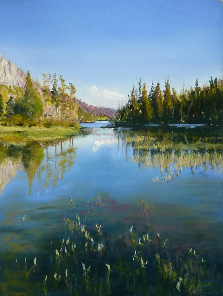 """""""Tranquility"""" (soft pastel) by Dolores Saul"""