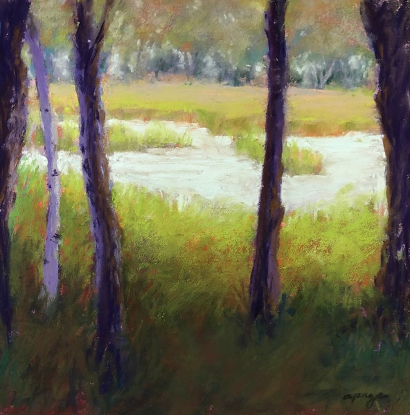 """""""Beyond the Marsh"""" (soft pastel) by Aly Page"""
