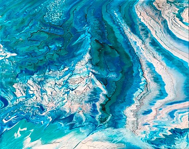 """Over the Arctic Ocean"" (acrylic) by Shelley Chiodini"
