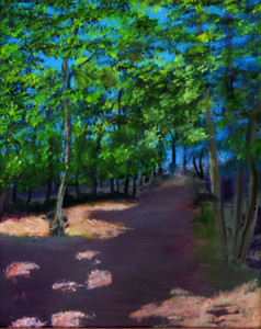 """Shaded Path"" (oil on canvas) by Eldon Case"