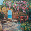 """Italian Patio"" (oil on canvas) by Nadezda Tarasova"
