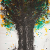 """Tangerine Tree"" (sumi ink, condensed ink on glassine paper) by Joon Lee"
