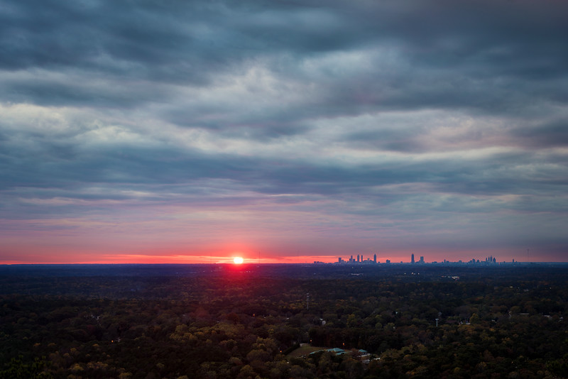 Sunset Atlanta Skyline - Atlanta GA 2018