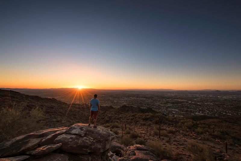 Sunset Over Phoenix Arizona - 2017