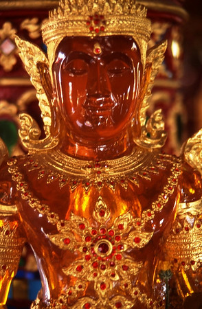 Amber and Gold Buddha, Bangkok, Thailand