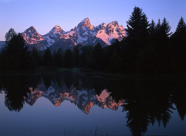 Grand Teton Range in Early Morning Light, Wyoming