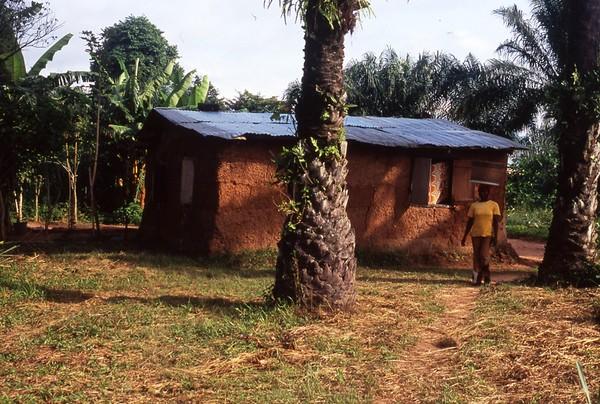 Village House and Woman near Hohoe, Ghana