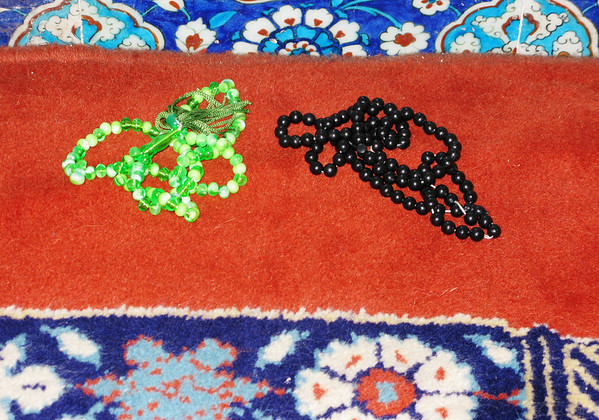 Prayer Beads, Rustem Pasha Mosque, Istanbul, Turkey