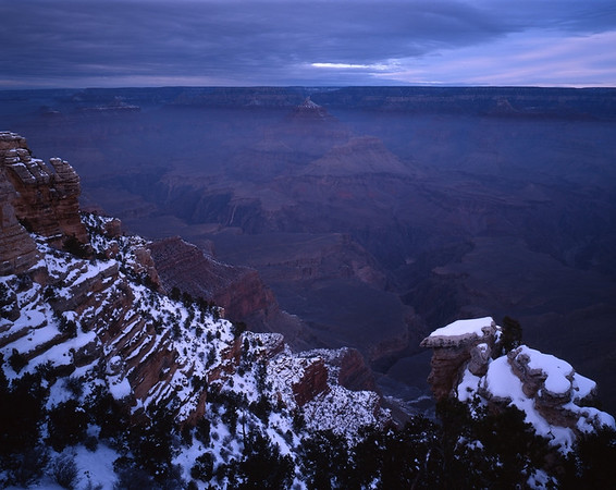 South Rim of Grand Canyon During a Winter Dawn