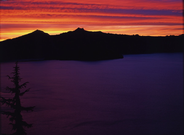 Crater Lake Sunset, Oregon
