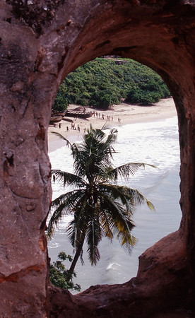View of Atlantic Ocean from Slave Fort, Ghana