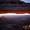 Mesa Arch at Dawn, Canyonlands NP, Utah