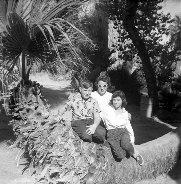 Steve & Linda with Mom in a Palm or San Andreas Canyon, Palm Springs