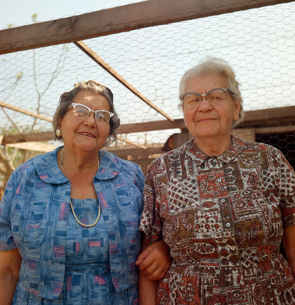 Grandma and her sister Tennie at Tennie & Ben's farm in Escalon, CA