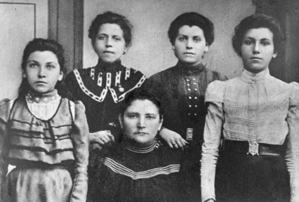 Rebecca (right), Her Mother (center), and Rebecca's sisters