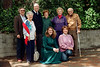 Steve's children Emily & Adam wearing teal, Linda B. (kneeling) and (standing) Steve, Shirley Ben, Billie, Goody