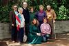 Steve's children Emily & Adam wearing teal, Linda B. (kneeling) and (standing) Steve, Shirley Ben, Billie, Goody
