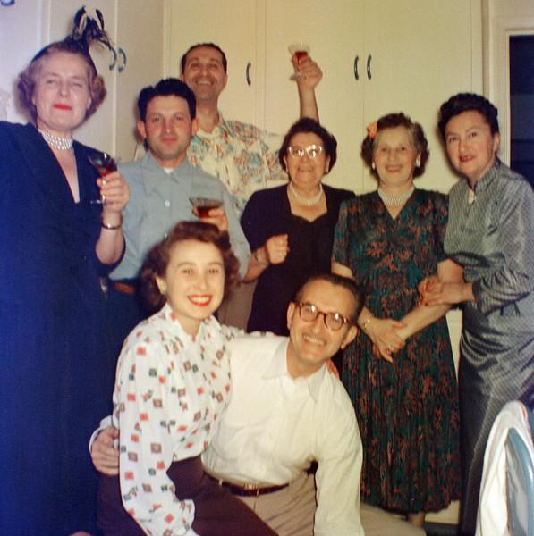 Bottom: Nedda Katzburg & Dave Brudney. Middle: Ben Berke, Rececca Brudney, Anna Pekow, Shirley (Brudney)Eddy. In rear: Ben Brudney