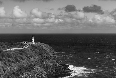 Kilauea Lighthouse - BW