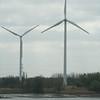 Moderne windmolens aan De Scheldeboord