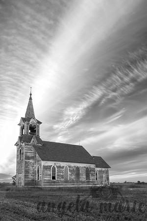 Abandoned Church at Sunset 1