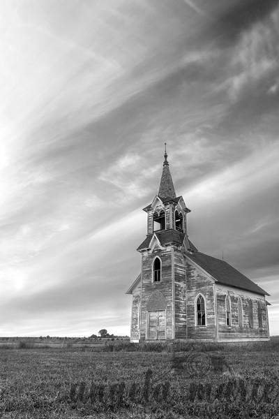 Abandoned Church at Sunset 2