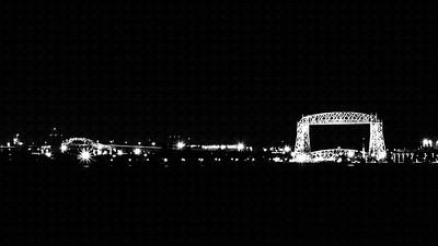 A B&W version of the Lift Bridge shot