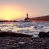 Sunrise over Lake Superior in Duluth