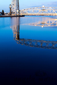 Lift Bridge reflection on the canal