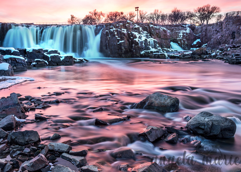 Sunset Colors at Falls Park, Sioux Falls