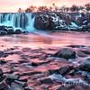 Sunset Colors at Falls Park, Sioux Falls