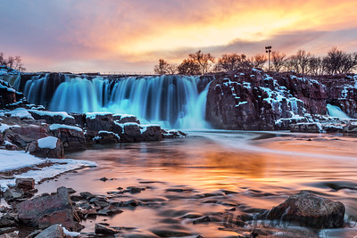 Sunset at Falls Park, Sioux Falls