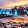 Sunset at Falls Park, Sioux Falls
