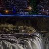 Holiday light display at Falls Park in Sioux Falls, SD