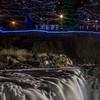 Holiday light display at Falls Park in Sioux Falls, SD
