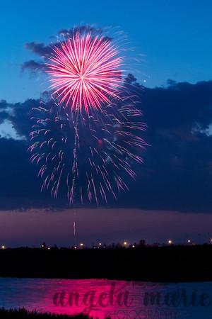 Fireworks over West Fargo, North Dakota #4