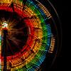 Rainbow Ferris Wheel in Motion Close up