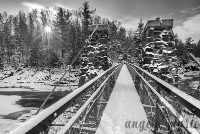 Swinging Bridge and Newly Fallen Snow