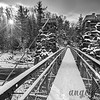 Swinging Bridge and Newly Fallen Snow
