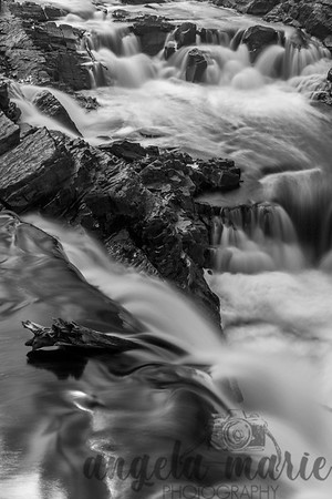 B&W version of Rapids on the St. Louis River in Jay Cooke State Park