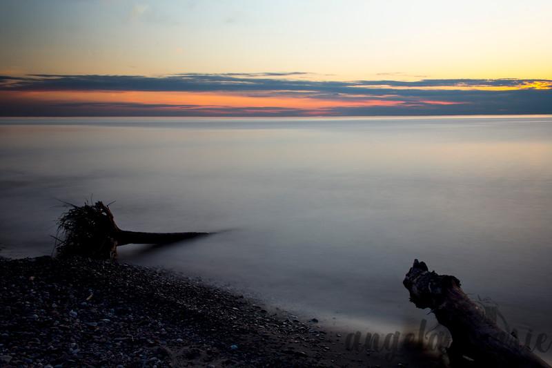 Long Exposure at Sunset on Lake Superior