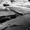 Manido Falls on the Presque Isle River in Michigan in Black and White