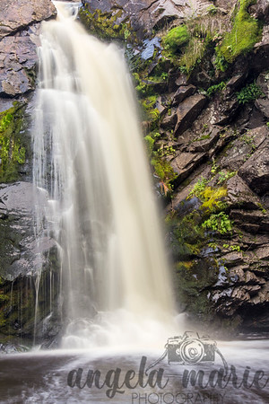 Portion of Little Manitou Falls at Pattison State Park in Wisconsin