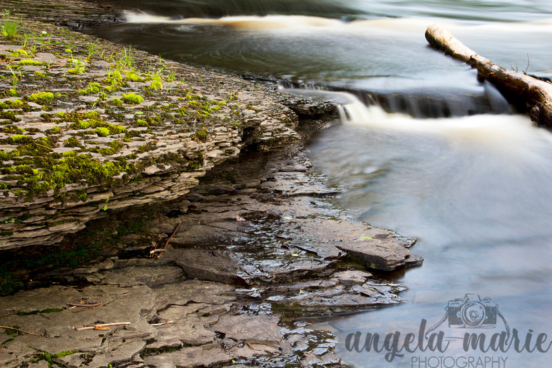 Water and Rock on the Presque Isle River, Michigan