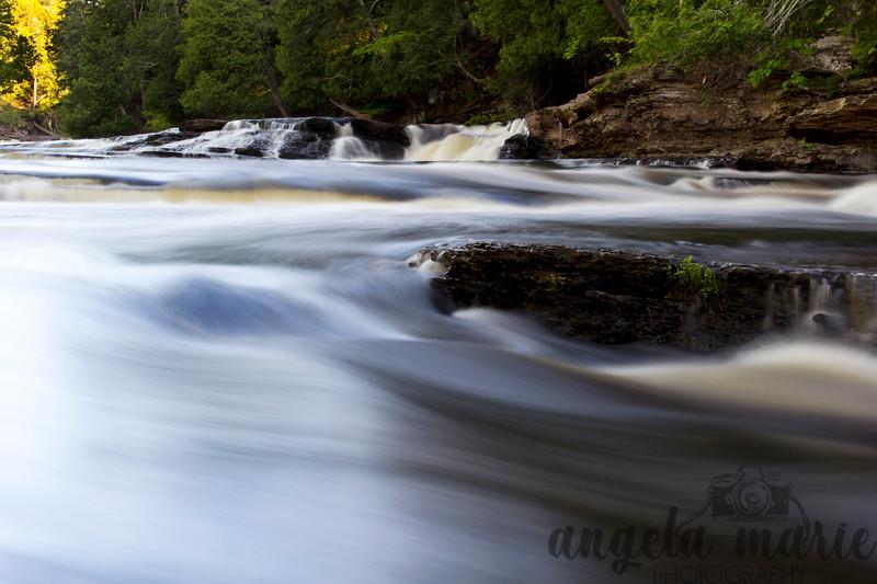 Falls on the Presque Isle River, Michigan