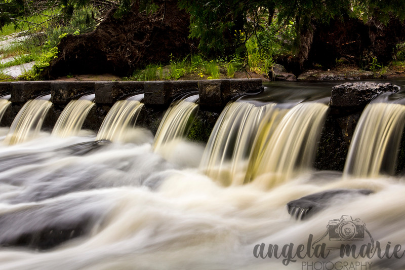 Falls on the Ontonagon River by Bond Falls in Michigan